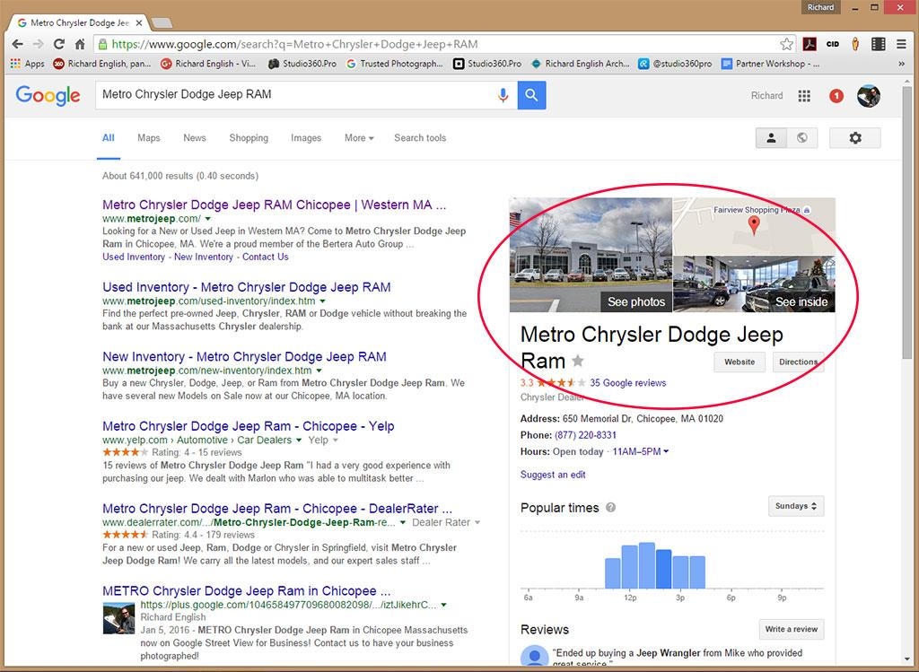 Metro Chrysler Dodge Jeep RAM! - Connecticut's Google Street View